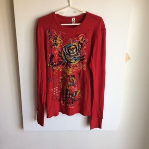 Oto Max Graphic T Shirt Red Metal Studs Size XL  A